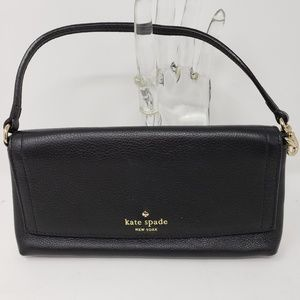 Kate Spade New York Black Leather Clutch